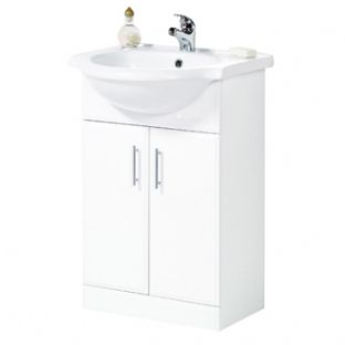 Frontline Aquachic high gloss white 600 base unit & top inc. basin